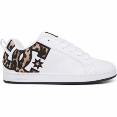 ディーシー DC レディース スケートボード シューズ・靴 court graffik skate shoes Leopard Print