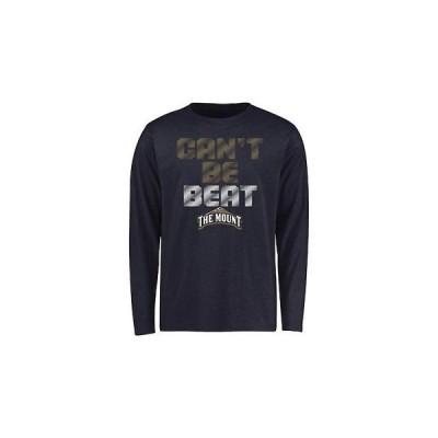 大学 NCAA ファナティクス Mount St. Mary's Mountaineers Youth Navy Can't Be Beat Long Sleeve T-Shirt