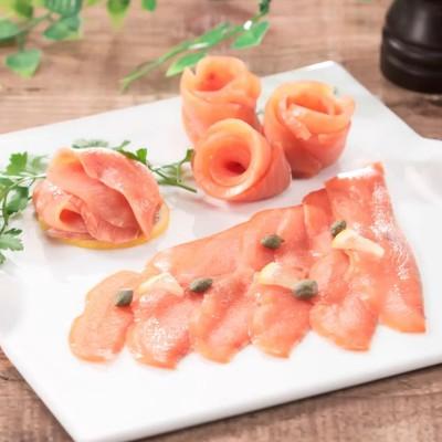 北海道産鮭「銀聖」使用スモークサーモン[80g×5]