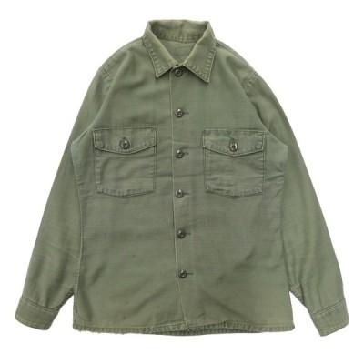 U.S.ARMY ユーティリティシャツ ファティーグシャツ 3stモデル サード ビンテージ ミリタリ— 米軍 サイズ表記:--