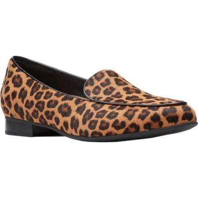 クラークス Clarks レディース ローファー・オックスフォード シューズ・靴 Un Blush Ease Loafer Leopard Pony Hair Leather II
