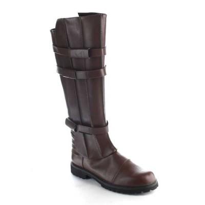 ブーツ シューズ 靴 海外セレクション FUNTASMA WALKER-130 メンズ ニーハイ バックルd スーパーhero ブーツ Costume ブーツ Brown Pu