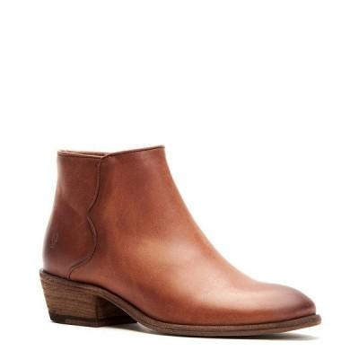 フライ レディース ブーツ&レインブーツ シューズ Carson Leather Piping Block Heel Booties Cognac