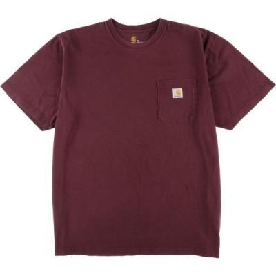 Carhartt ワンポイントロゴポケットTシャツ メンズXL /eaa049936