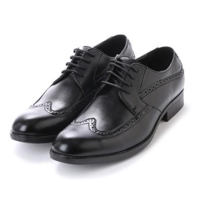 エニーウォーク Anywalk 紳士ビジネスシューズ・ウィングチップ〈クラシコイタリア〉・aw_16145 (BLACK)