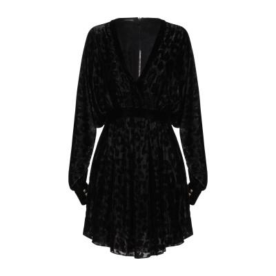 バルマン BALMAIN ミニワンピース&ドレス ブラック 36 ナイロン 60% / シルク 24% / レーヨン 16% ミニワンピース&ドレス