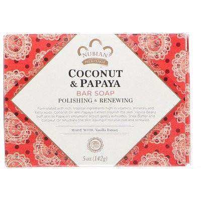 ココナッツ&パパイヤの石けん、5 oz (142 g)