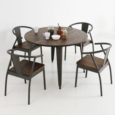 送料無料 インテリア ビアーズ 110cm 丸テーブル テーブル 単品 ダイニングテーブル 円卓 丸型 食卓テーブル キッチンテーブル ヴィンテ