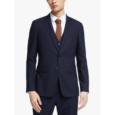 キン ジャケット&ブルゾン メンズ アウター Kin Bengaline Wool Slim Fit Suit Jacket, Navy
