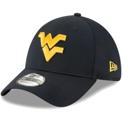 ユニセックス スポーツリーグ アメリカ大学スポーツ West Virginia Mountaineers New Era Perforated Play 39THIRTY Flex Hat - Navy