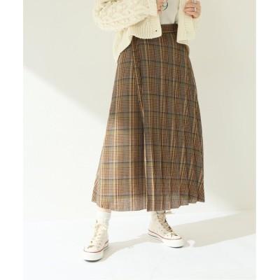 【ジャーナルスタンダード】 2WAYチェックプリーツラップスカート◆ レディース ベージュ 36 JOURNAL STANDARD