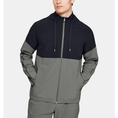 アンダーアーマー メンズ アウター Under Armour Recover Woven Warm-Up Jacket ジャケット Gravity Green/Black