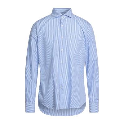 TRU TRUSSARDI シャツ アジュールブルー 42 コットン 100% シャツ