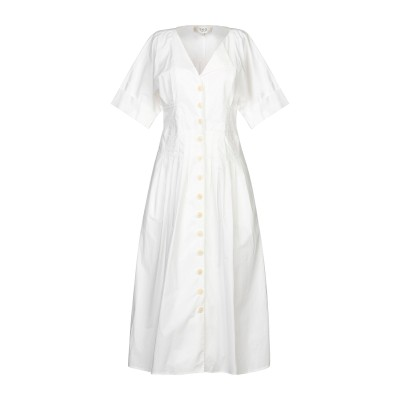 SEA 7分丈ワンピース・ドレス ホワイト 2 コットン 100% 7分丈ワンピース・ドレス