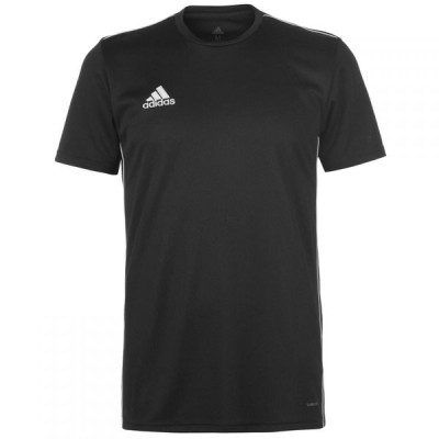 アディダス adidas メンズ Tシャツ トップス Primegreen Football Core 18 Jersey Black/White