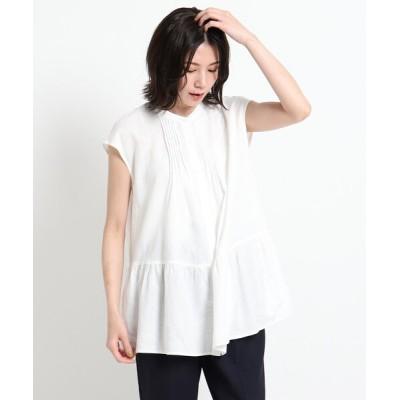 シャツ ブラウス 【XS〜Lサイズあり・洗える】ピンタックブラウス