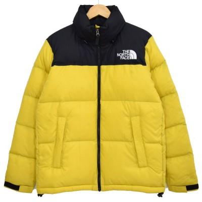 THE NORTH FACE Nuptse Jacket ヌプシ ダウンジャケット 2018AW ND91841 ブラック×イエロー サイズ:M (新