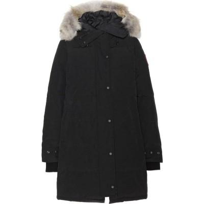 カナダグース Canada Goose レディース ダウン・中綿ジャケット アウター Shelburne fur-trimmed down coat Black
