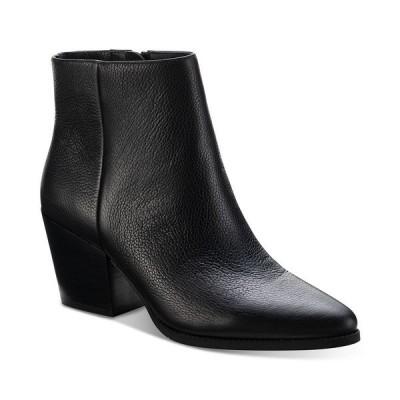 サンアンドプラスストーン ブーツ&レインブーツ シューズ レディース Eryn Block-Heel Booties,  Black Leather