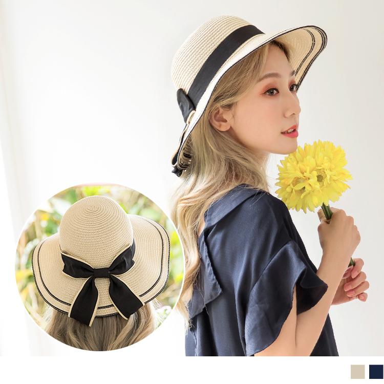 質感優雅大蝴結設計草帽