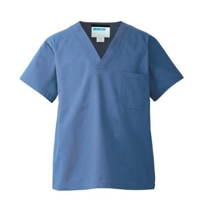 137 KAZEN メンズ手術上衣 ナースウェア・白衣・介護ウェア