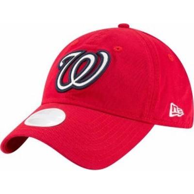 ニューエラ レディース 帽子 アクセサリー New Era Women's Washington Nationals 9Twenty Team Glisten Red Adjustable Hat