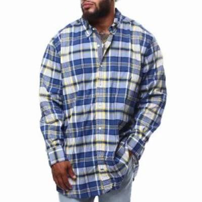 ノーティカ シャツ l/s woven shirt (b&t) Blue