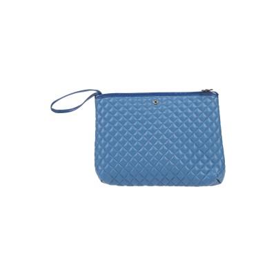 LA FILLE des FLEURS ハンドバッグ ブルー ポリウレタン 60% / ポリエステル 40% ハンドバッグ