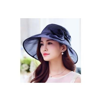 HANAMORI シルク100% シルク帽子 シルクシフォン帽子 紫外線対策 レディース おしゃれ