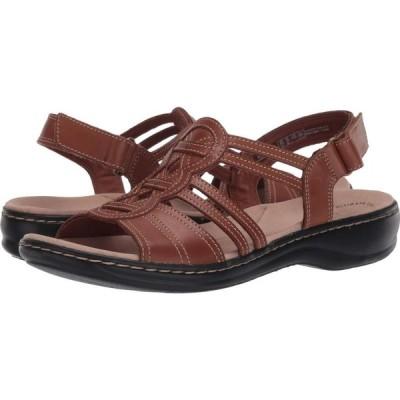 クラークス Clarks レディース サンダル・ミュール シューズ・靴 Leisa Janna Tan Leather