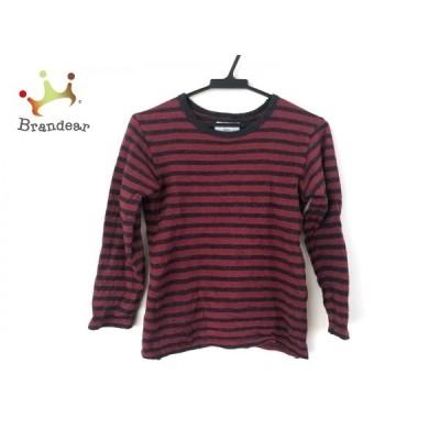 アニエスベー agnes b 長袖セーター サイズS レディース 美品 ダークグレー×ボルドー ボーダー  値下げ 20200503