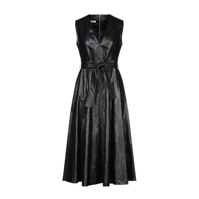 TENAX 7分丈ワンピース・ドレス ブラック 42 レーヨン 57% / ポリウレタン 27% / ポリエステル 11% / 金属 5% 7分丈ワ