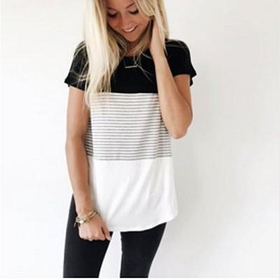 カジュアルボーダーTシャツ シンプル 定番コーデ ちょっとしたお出かけやママコーデに!