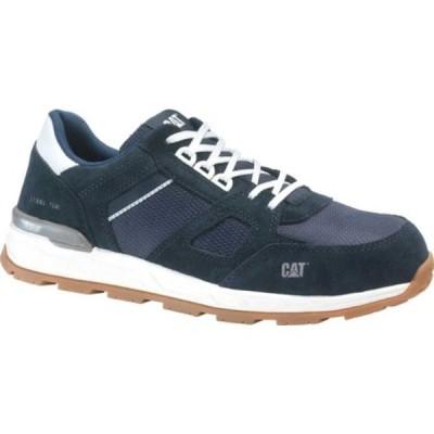 キャタピラー スニーカー シューズ メンズ Woodward Steel Toe Work Shoe (Men's) Blue Nights Nylon Mesh