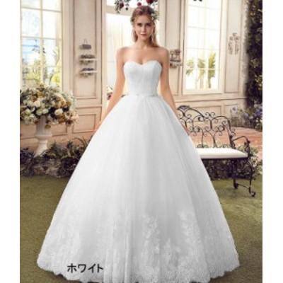 ロングドレス/ウエディングドレス/ウェディングドレス/Aライン/ビスチェ/ホワイト・ライトシャンパン/XS~XXXL/hslg520