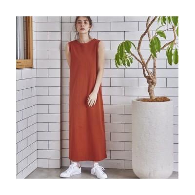 EUCLAID/エウクレイド 【her EUCLAID】綿天竺her刺繍マキシワンピース オレンジ 36