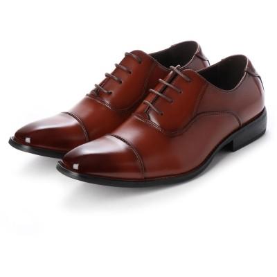 トウキョウブラザー TOKYO BROTHER メンズ ビジネスシューズ 紳士靴 ドレスシューズ 防滑 ストレートチップ 内羽根 (ブラウン)