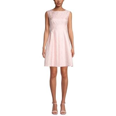 アンクライン ワンピース トップス レディース Sleeveless Floral Jacquard Dress Cherry Blossom