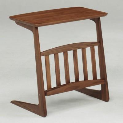 サイドテーブル ミニテーブル ソファテーブル 木製 ウォールナット ブルーノ 55