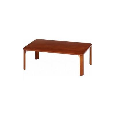 不二貿易 折脚ローテーブル(ブラウン) KSM-9060BR 12841