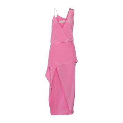 MICHELLE MASON ロングワンピース&ドレス ピンク 0 シルク 100% ロングワンピース&ドレス