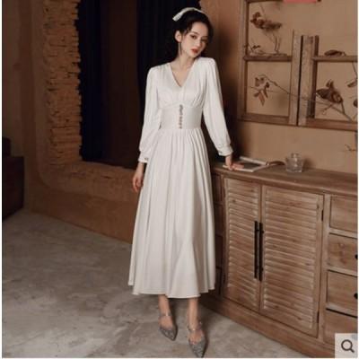 エレガンス ワンピース ドレス ファッション セクシー パーティー 結婚式 ドレス お呼ばれ 二次 同窓会 普段着用 XLF1