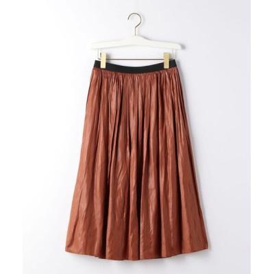 green label relaxing / CS monable チンツ サテン ギャザー スカート WOMEN スカート > スカート