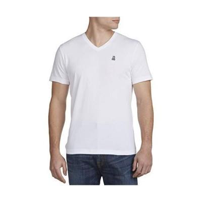 海外取寄品--Psycho Bunny Big & Tall VネックロゴTシャツ(ホワイト)