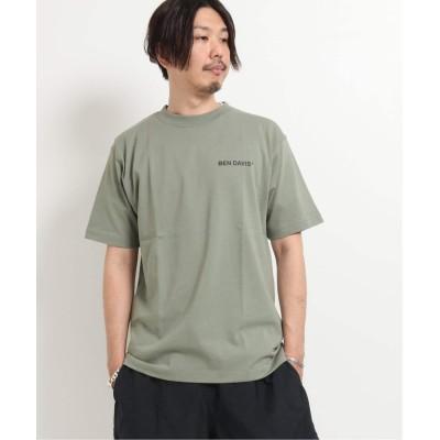 メンズ ベーセーストック 【BEN DAVIS / ベンデイビス】 bd-banner logo exs ss tee グリーン L