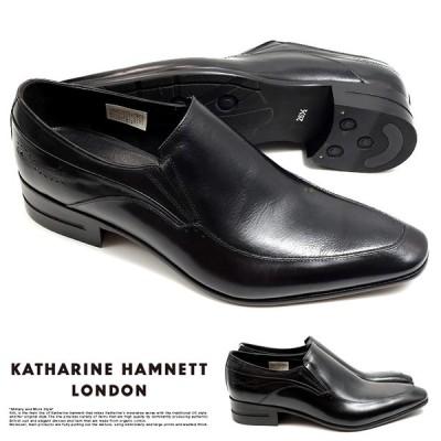 キャサリンハムネット ビジネスシューズ 靴 革靴 紳士靴 メンズ 本革 スリッポン 穴飾り 31640