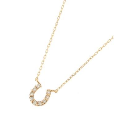 COCOSHNIK(ココシュニック) ダイヤモンド 馬蹄モチーフ ネックレス