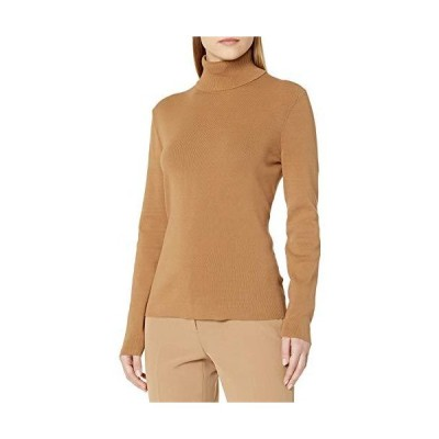 Anne Klein Women's Long Sleeve Turtleneck, Vicuna, XX-Small並行輸入品 送料無料