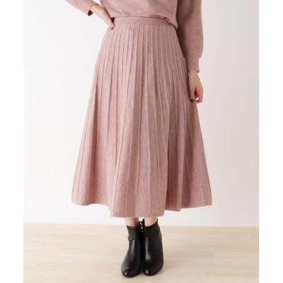 SHOO・LA・RUE/DRESKIP(シューラルー/ドレスキップ) ◆【M-L/洗濯機で洗える】ラメ混ニットスカート