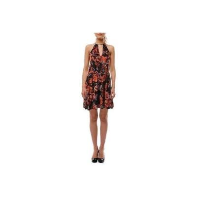 ドレス 女性  ゲス Guess 9415 レディース ブラック ノースリーブ Knee-Length プリントed カジュアル ドレス M